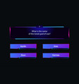 template question and answers neon style vector image vector image