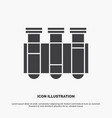 test tube science laboratory blood icon glyph vector image