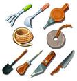 tools for gardener carpenter and repairman vector image vector image