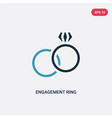 two color engagement ring icon from woman vector image vector image