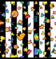 winner prizes seamless cartoon pattern vector image