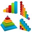 Chart elements vector image
