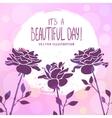 rose background vector image