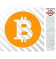 bitcoin coin flat icon with bonus vector image