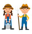 isolated young farmer on white background vector image