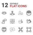 12 social icons vector image vector image