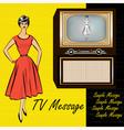 1950s Stlye Retro vector image vector image