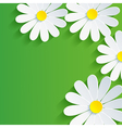 3d flower chamomile spring abstract background vector image vector image