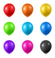3d realistic colorful balloons collection holiday vector image