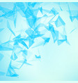 abstract blue mesh background vector image vector image