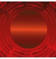 Abstract dark red technical circle background vector image vector image