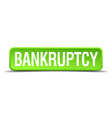 bankruptcy green 3d realistic square isolated vector image