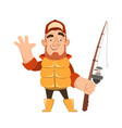 bearded fisherman character vector image vector image