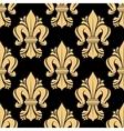 Beige and black fleur-de-lis floral pattern vector image vector image