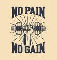 bodybuilding fitness design barbell logo vector image