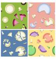 broken plates seamless pattern vector image vector image