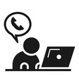 call parcel delivery support icon simple style vector image vector image