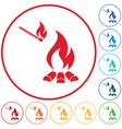 campfire silhouette icon vector image vector image