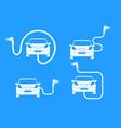 car charging station symbol road sign template vector image
