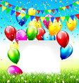 celebration background with frame buntings vector image vector image