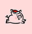 chinese 2019 new year greeting card with cute pig vector image