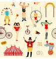 Colorful set with circus star vector image