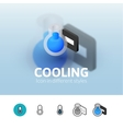 Cooling icon in different style vector image vector image