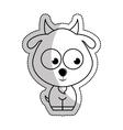 cute goat tender character vector image