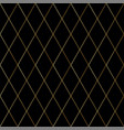 dark luxury seamless pattern with gold cross lines vector image vector image