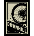 downhill mountain bike banner t-shirt print vector image vector image