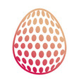 easter egg with dots vector image
