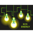 Eco energy Background vector image vector image