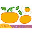 education paper game for children pumpkin vector image vector image
