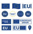 european union signs set eu labels and badges vector image vector image
