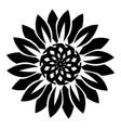 flower shape icon simple style vector image