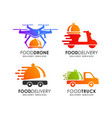 food delivery logo design template vector image vector image