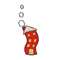 funny comic cartoon house vector image