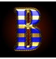 golden and blue letter b vector image vector image