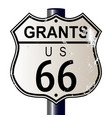 grants route 66 sign vector image vector image
