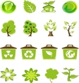 Green Nature Icons Set vector image vector image