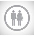 Grey man woman sign icon vector image vector image
