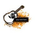 grunge music frame vector image vector image