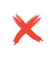 hand drawn red grunge check mark vector image