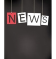 hanging news labels vector image