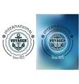 International voyager marine heraldic banner vector image vector image