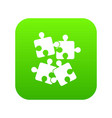 jigsaw puzzles icon digital green vector image