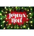 Joyeux Noel French for Merry Christmas Christmas vector image
