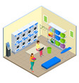 laundry service and dry cleaning concept row of vector image