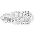 loaning word cloud concept vector image vector image