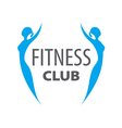 logo of two girls for fitness club vector image
